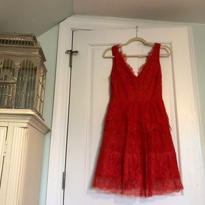 BCBG Maxazria Red Lace Dress